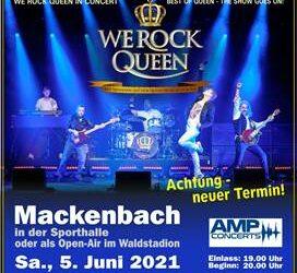 WE ROCK QUEEN in Mackenbach verschoben!